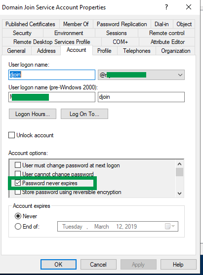 Correct Domain Join Account Permissions - SCCM / MDT OS Deployment